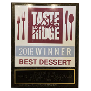 Taste of the Ridge Award Winner 2016