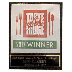 Taste of the Ridge Award Winner 2017
